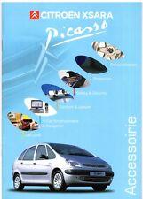 CITROEN XSARA PICASSO accessori 2000-01 UK Opuscolo Vendite sul mercato