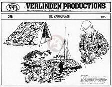 Verlinden 1/35 US Camouflage Pattern Self-Adhesive Figure Diorama (1 Sheet) 225