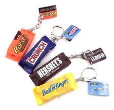 American Candy 3D LED Light Torch Keychain - Mini Flashlight Set of 4 Chocolates