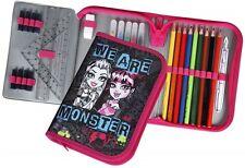 Schüleretui Federmappe Stiftetasche Scooli Monster High mit Stabilo - Füllung