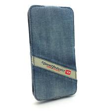 Genuine Diesel Scissor Denim Indigo Blue Flip Case Cover For iPhone 5s SE 5 NEW
