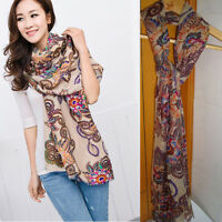Charming Women Long Soft Chiffon Scarf Wrap Large Winter Silk Shawl Stole Scarf