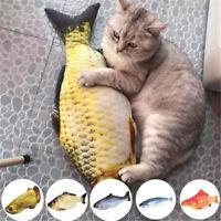 Pets Cat Kitten Dog Stuffed Fish Toy Plush Chewing Funny Interactive KickerToys