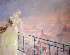 Icart Louis Paris Scene Print 11 x 14  #4087