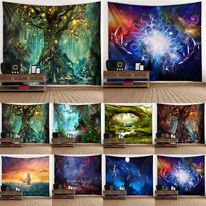 3D Landscape Tapestry Wall Hanging Tapestry Bedspread Large Art Throw Home Use