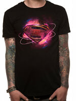 Superman Logo Justice League Movie Classic Official DC Comics Black Mens T-shirt