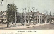 Freeman Hotel, Auburn, California Pub. Knief & Fleming ca 1910s Vintage Postcard