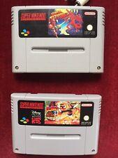 super nintendo konsole mit spielen SNES 2 x Spiel