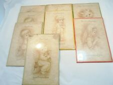 "Vintage Lot of 8 BROWNIE INNOCENTS 8-1/2"" x 5-3/4"" Decorated Plaque Wall Hanging"