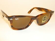 New RAY BAN Original WAYFARER Sunglasses RB 2140 954 B-15 Glass Brown Lenes 50mm