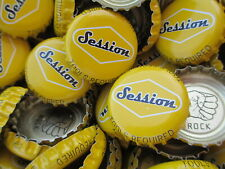 100 ( Yellow Session Wheat ) Beer Bottle Caps (No Dents). Free Shipping