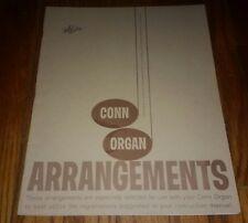 Conn Organ Arrangements collection VINTAGE sheet music book USA antique vintage