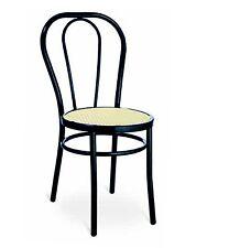 Sedia per bar,ristorante,locale,seduta finta paglia VIENNA,THONET nera
