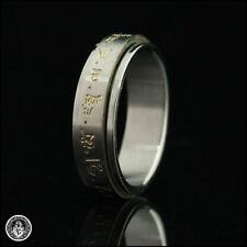 YELLOW DZAMBALA Mantra Spinner Ring Tibetan Buddhist Spinning JAMBHALA Gold US 6