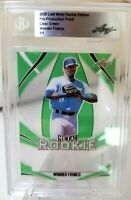 1/1 Wander Franco, BGS 2020 Leaf Metal Rookie, Pre-Production Proof, Clear Green