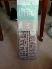 American Crafts DCWV Home Letter Packs for Letter Board - Silver Characters - 2""