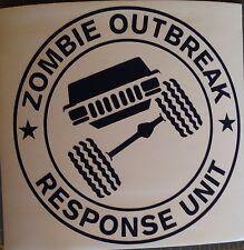 Zombie Outbreak Response Unit - Jeep Cherokee XJ -  Custom vinyl sticker / decal