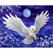 5D Diamond Painting Full Drill Embroidery Cross Stitch Kits White Owl Home Decor