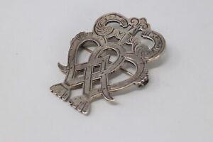 Huge Vintage Sterling Silver 925 Ola Gorie Designer Scottish Luckenbooth Brooch