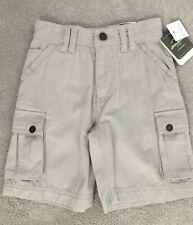 NEW EDDIE BAUER Khaki Tan Cargo Shorts Boys Size 4 NWT