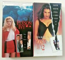 2 VHS Lot - POISON IVY 1 & 2 Lily Alyssa Milano Drew Barrymore Lethal Lolita