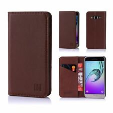 Samsung Galaxy J3 (2016) Leather Wallet Case Designed by 32nd Classic Real Leat