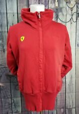 PUMA Ferrari Red Full Zip Front Jacket Official Product WOMEN'S SZ Large