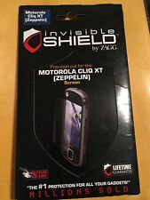 ZAGG INVISIBLE SHIELD MOTOROLA CLIQ XT ZEPPELIN CELL PHONE SCREEN PROTECTOR