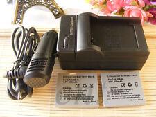 Pacco BATTERIA 2PCS + CARICABATTERIE per Canon NB-4L NB4L NB-4LH/1 anni di garanzia