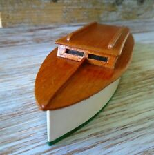 HO Scale Cabin Cruiser Boat 'Key Largo' Vintage Handcrafted