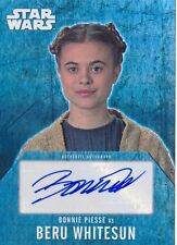 Star Wars Evolution Autograph Auto Bonnie Piesse Beru Whitesun (A)