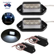 2X LED NUMBER PLATE LIGHT TRUCK UTE TRAILER CARAVAN 3 HIGH QUALITY LEDS!! 12/24V