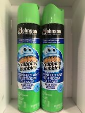 LOT of 2 DISINFECTANT Multi Surface Bathroom Cleaner Scrubbing Bubbles 25 Oz Can