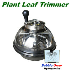 "MANUAL TRIMMER 16"" STAINLESS BOWL BUD LEAF PLANT CUTTER TRIM HYDROPONICS SPIN"