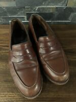 Allen Edmonds Randolph Brown Loafers 9.5 Leather Dress Shoes