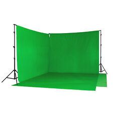 Interview Green Screen Hintergrund-SET Doppel-Hintergrundsystem Stoff grün