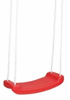 Kinderschaukel rote Brettschaukel SCHAUKEL aus Kunststoff 42x18cm  PE-Seil Ø10mm