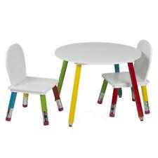 Kindertisch mit 2 Stühlen Kinderzimmer Tisch Kinder Möbel Bunt Kindersitzgruppe