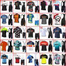 New listing 2021 Bike Team Mens Cycling Jersey Short Sleeve Shirt Bib Shorts Set Sports Suit