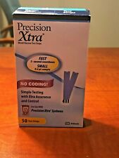 Precision Xtra Blood Glucose Test Strips (50 ct) Expiration 6/30/2021