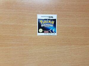 Nintendo DS Pokemon Diamond Replacement Label Decal Sticker Nintendo Cartridge