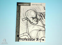 2013 Fleer Marvel Retro Professor X Sketch Card Walter Rice WDR Base #30 Art 1/1