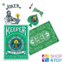 ELLUSIONIST KEEPER SEA GREEN BICYCLE PLAYING CARDS DECK MAGIC TRICKS NEW