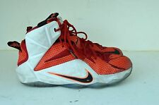 Youth Nike Lebron XII WHITE RED GS Basketball Shoes 685181 602 6.5 Youth VGUC