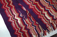 NWT MISSONI UNISEX SCARF ITALY PURPLE/RED ORANGE LBL 100%WOOL RET$150