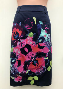 LEONA by LEONA EDMISTON Spring Bouquet Blue Straight Skirt NWT Rrp $129 sz 10
