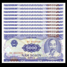 Lot 10 PCS, Vietnam Viet Nam 5000 Dong, 1991, P-108, UNC