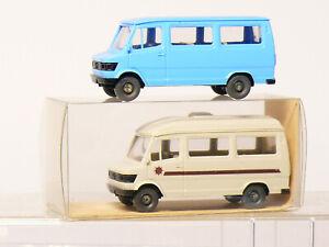 WIKING 268+282 Mercedes 207 D Motorhome Skipper + Bus H0 1/87