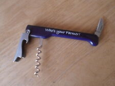 """""""WHO's YOUR Farmer"""" Capitano, plastic, stainless BLUE"""