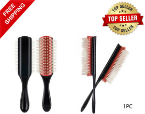 Best Denman Brush Nylon Bristle 9-row Detangle Distribute, Product Curly Hair 1